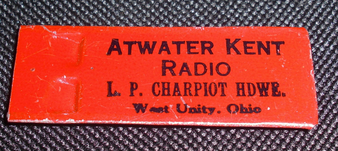 Atwater Kent whistle - `