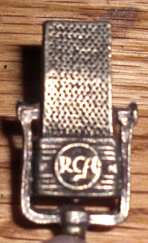 RCA 44 microphone tie tack